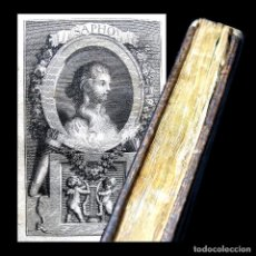 Libros antiguos: AÑO 1781 SAFO DE LESBOS ERÓTICAS PRIMERA EDICIÓN NINGUNO EN ESPAÑA POETISA ANTIGUA GRECIA GRABADO . Lote 195784603