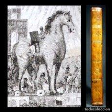 Libros antiguos: AÑO 1791 PRIMERA EDICIÓN GUERRA DE TROYA ENEIDA GEÓRGICAS VIRGILIO CABALLO GRABADO MITOLOGÍA GRECIA. Lote 195786218