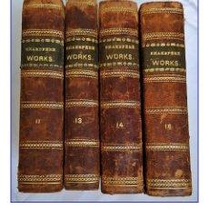 Libros antiguos: AÑO 1788: WILLIAM SHAKESPEARE: HAMLET Y OTRAS OBRAS. 4 TOMOS DEL SIGLO XVIII. LONDON.. Lote 195850730