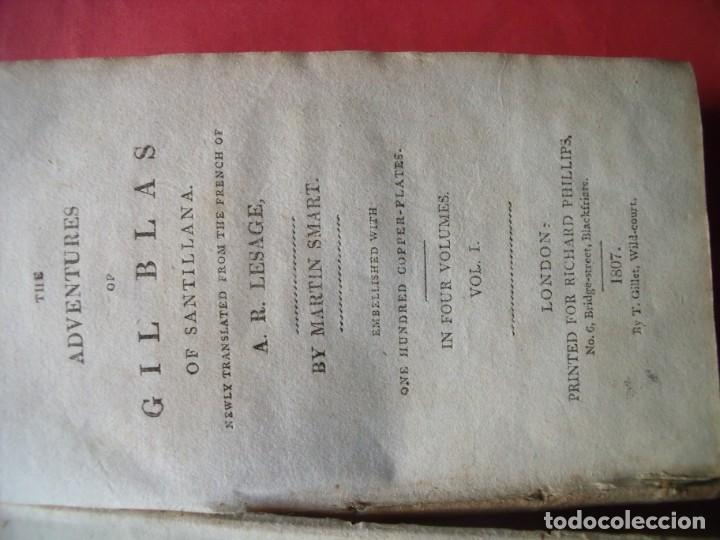 Libros antiguos: LESAGE.-MARTIN SMART.-LAS AVENTURAS DE GIL BLAS DE SANTILLANA.-GRABADOS.-COLOREADOS.-LONDRES.-1807. - Foto 2 - 196007231
