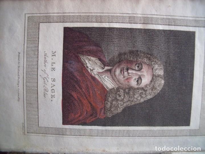 Libros antiguos: LESAGE.-MARTIN SMART.-LAS AVENTURAS DE GIL BLAS DE SANTILLANA.-GRABADOS.-COLOREADOS.-LONDRES.-1807. - Foto 3 - 196007231