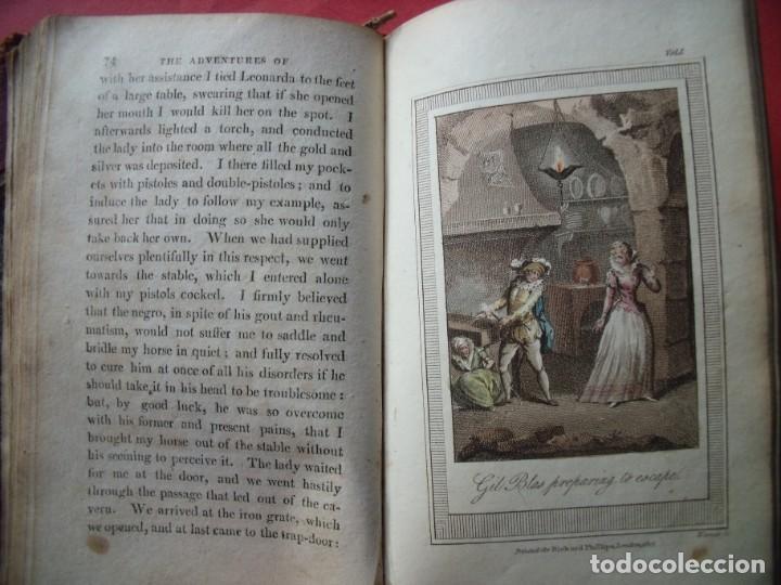 Libros antiguos: LESAGE.-MARTIN SMART.-LAS AVENTURAS DE GIL BLAS DE SANTILLANA.-GRABADOS.-COLOREADOS.-LONDRES.-1807. - Foto 6 - 196007231