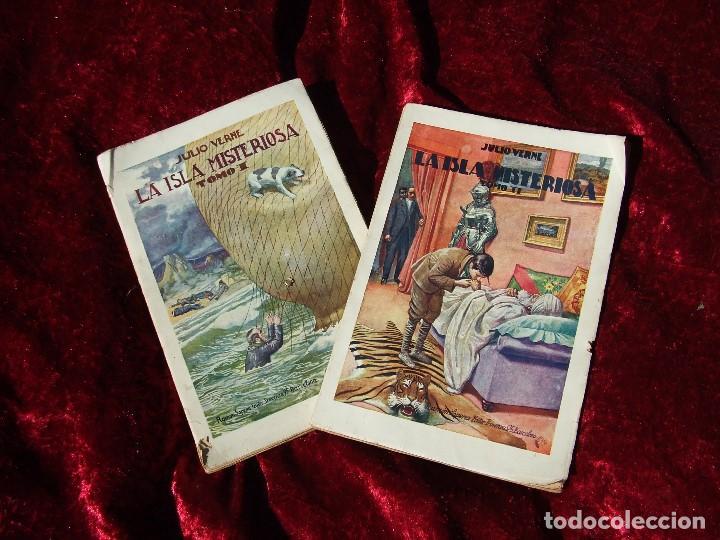 LA ISLA MISTERIOSA : PRECIOSA EDICIÓN DE JULIO VERNE DE 1934 EN BUEN ESTADO POR SÓLO DIEZ EUROS (Libros antiguos (hasta 1936), raros y curiosos - Literatura - Narrativa - Clásicos)