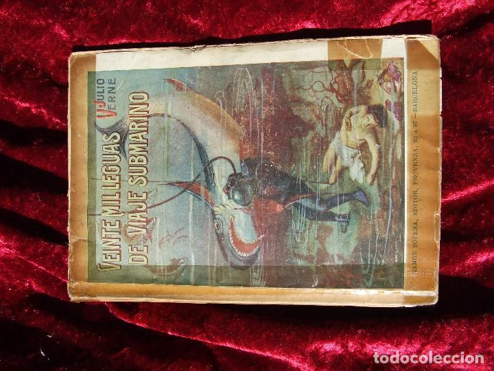 VEINTE MIL LEGUAS DE VIAJE SUBMARINO DE RAMÓN SOPENA POR SÓLO SEIS EUROS (Libros antiguos (hasta 1936), raros y curiosos - Literatura - Narrativa - Clásicos)