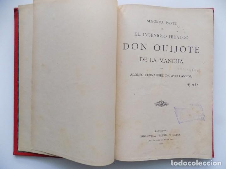 Libros antiguos: LIBRERIA GHOTICA. BELLA EDICIÓN MODERNISTA DEL QUIJOTE DE AVELLANEDA. 1902. FOLIO.MUY ILUSTRADO. - Foto 6 - 197054728