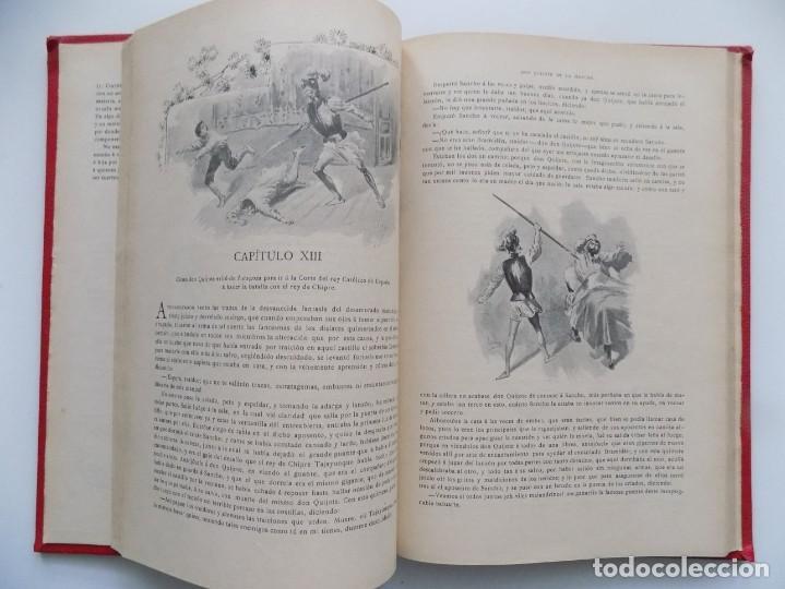 Libros antiguos: LIBRERIA GHOTICA. BELLA EDICIÓN MODERNISTA DEL QUIJOTE DE AVELLANEDA. 1902. FOLIO.MUY ILUSTRADO. - Foto 8 - 197054728