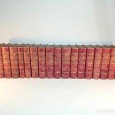 Libros antiguos: EPISODIOS NACIONALES. 38 EPISODIOS EN 19 VOLÚMENES. PÉREZ GALDÓS. BELLA ENCUADERNACIÓN EN PIEL.. Lote 197352636