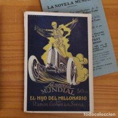 Livros antigos: LA NOVELA MUNDIAL 46 EL HIJO DEL MILLONARIO, RAMON GOMEZ DE LA SERNA, 1927. Lote 197384833