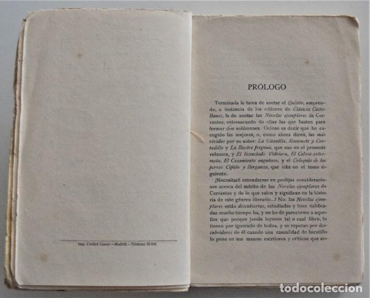 Libros antiguos: CERVANTES, NOVELAS EJEMPLARES 1 - CLÁSICOS CASTELLANOS - EDICIONES DE LA LECTURA 1928 ESPASA 1932 - Foto 6 - 197413513