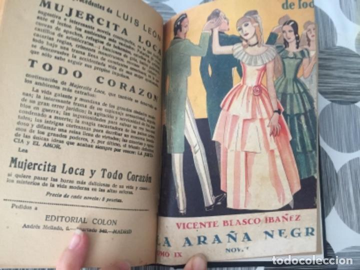 Libros antiguos: La araña negra. Tomo III. Vicente Blasco Ibáñez - Foto 5 - 197415267