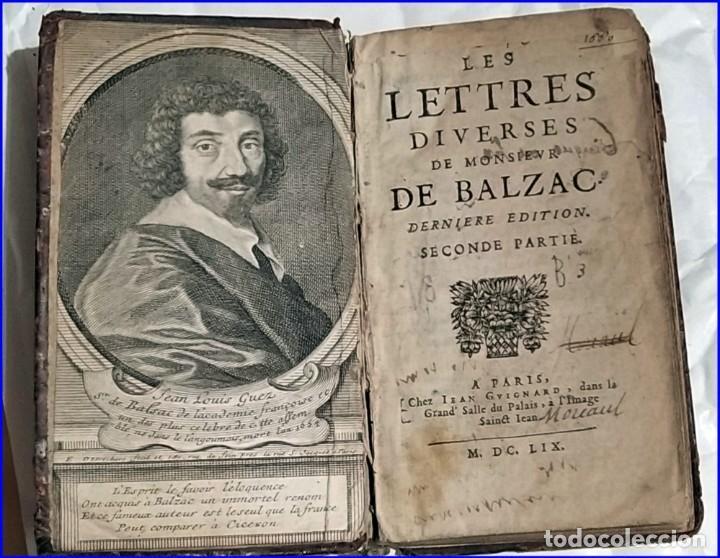 AÑO 1659: LAS CARTAS DE BALZAC. (Libros antiguos (hasta 1936), raros y curiosos - Literatura - Narrativa - Clásicos)