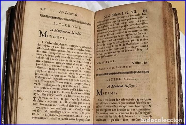 Libros antiguos: AÑO 1659: LAS CARTAS DE BALZAC. - Foto 6 - 197607666