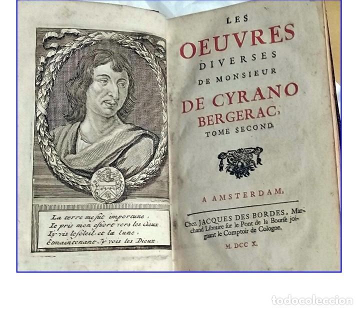 AÑO 1710: OBRAS DE CYRANO DE BERGERAC. (Libros antiguos (hasta 1936), raros y curiosos - Literatura - Narrativa - Clásicos)