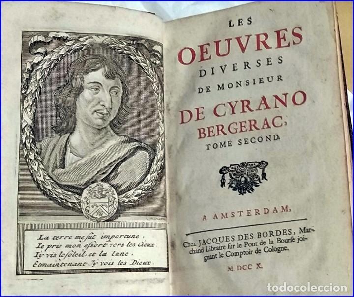 Libros antiguos: AÑO 1710: OBRAS DE CYRANO DE BERGERAC. - Foto 2 - 197608636