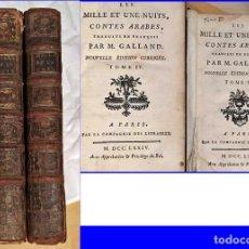 Libros antiguos: AÑO 1774: LAS MIL Y UNA NOCHES. 2 TOMOS DEL SIGLO XVIII.. Lote 197609321