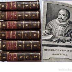 Libros antiguos: AÑO 1797: MADRID. DON QUIJOTE DE LA MANCHA. 6 TOMOS. EN ESPAÑOL. SIGLO XVIII.. Lote 197610908