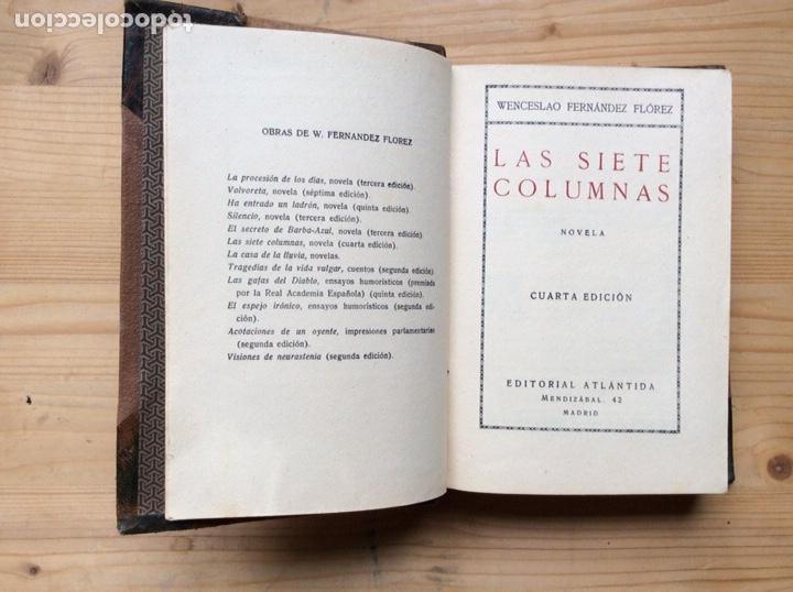Libros antiguos: LAS 7 COLUMNAS - Foto 3 - 197779257