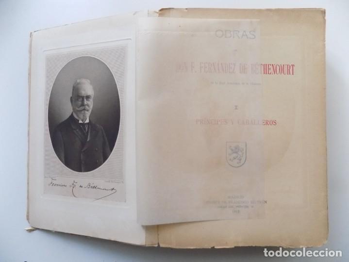 LIBRERIA GHOTICA. F. FERNÁNDEZ DE BÉTHENCOURT. PRÍNCIPES Y CABALLEROS.1913.ILUSTRADO.FOLIO. (Libros antiguos (hasta 1936), raros y curiosos - Literatura - Narrativa - Clásicos)