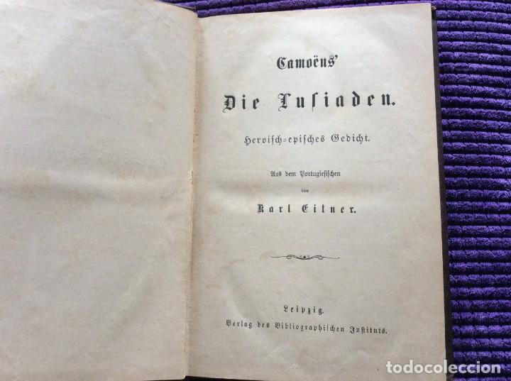 CAMÕES, OS LUSIADES: POEMA HEROICO-ÉPICO. POR KARL EITNER, 1869, 1.ª EDICIÓN. MUY RARO (Libros antiguos (hasta 1936), raros y curiosos - Literatura - Narrativa - Clásicos)
