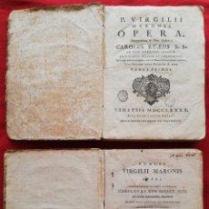 Libros antiguos: P. VIRGILII MARONIS , OPERA - (INTERPRETATIONE...CAROLUS RUAEUS S.J. - S. XVIII) 2 TOMOS - PJRB. Lote 198160827