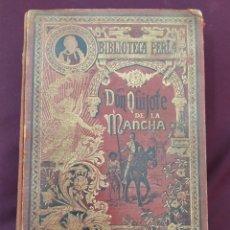 Libros antiguos: DON QUIJOTE DE LA MANCHA. BIBLIOTECA PERLA. SATURNINO CALLEJA. 1904. CON CURIOSA INSCRIPCIÓN.. Lote 198527583