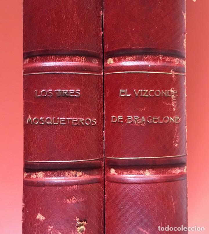 Libros antiguos: TRILOGÍA LOS TRES MOSQUETEROS - DUMAS - CROMOLITOGRAFÍAS - F. SEIX EDITOR - 3 VOL. EN 2 TOMOS - Foto 4 - 198638027