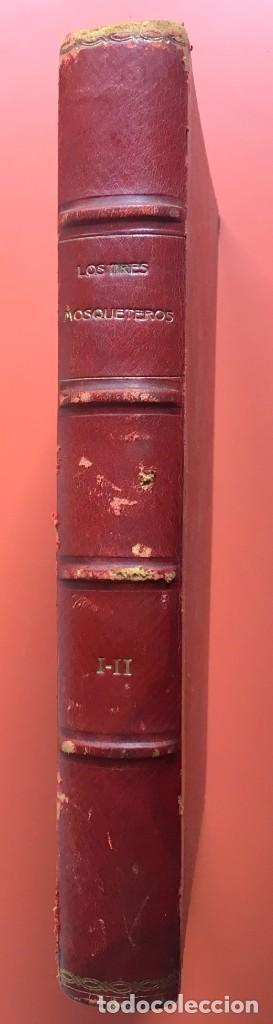 Libros antiguos: TRILOGÍA LOS TRES MOSQUETEROS - DUMAS - CROMOLITOGRAFÍAS - F. SEIX EDITOR - 3 VOL. EN 2 TOMOS - Foto 8 - 198638027