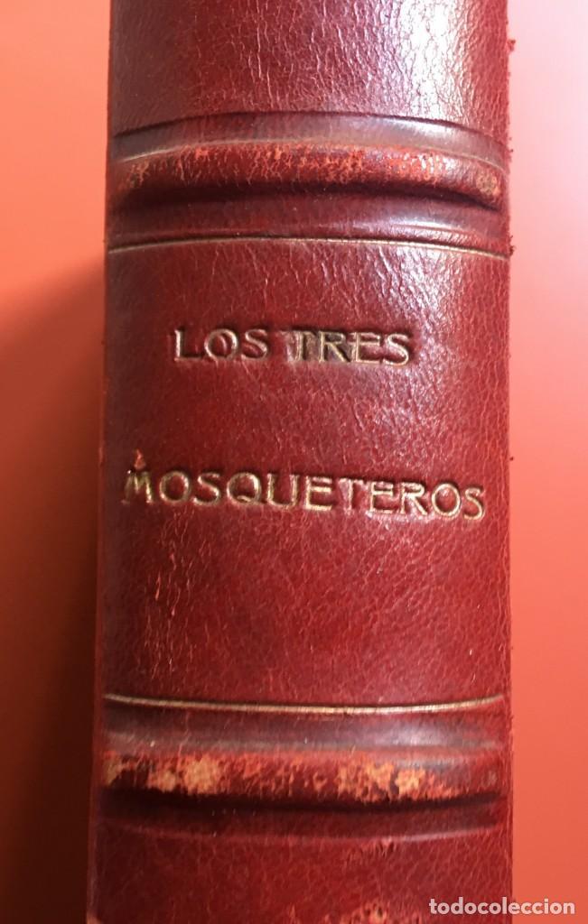 Libros antiguos: TRILOGÍA LOS TRES MOSQUETEROS - DUMAS - CROMOLITOGRAFÍAS - F. SEIX EDITOR - 3 VOL. EN 2 TOMOS - Foto 9 - 198638027