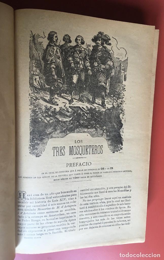 Libros antiguos: TRILOGÍA LOS TRES MOSQUETEROS - DUMAS - CROMOLITOGRAFÍAS - F. SEIX EDITOR - 3 VOL. EN 2 TOMOS - Foto 12 - 198638027