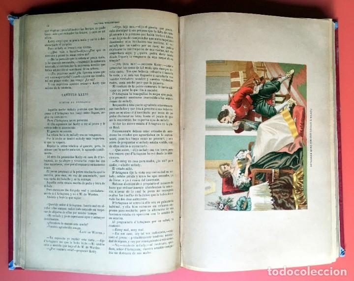 Libros antiguos: TRILOGÍA LOS TRES MOSQUETEROS - DUMAS - CROMOLITOGRAFÍAS - F. SEIX EDITOR - 3 VOL. EN 2 TOMOS - Foto 13 - 198638027