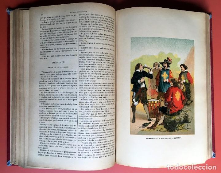 Libros antiguos: TRILOGÍA LOS TRES MOSQUETEROS - DUMAS - CROMOLITOGRAFÍAS - F. SEIX EDITOR - 3 VOL. EN 2 TOMOS - Foto 14 - 198638027