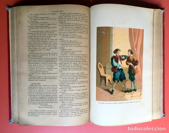 Libros antiguos: TRILOGÍA LOS TRES MOSQUETEROS - DUMAS - CROMOLITOGRAFÍAS - F. SEIX EDITOR - 3 VOL. EN 2 TOMOS - Foto 16 - 198638027