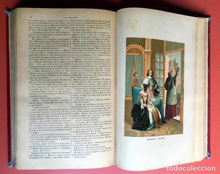 Libros antiguos: TRILOGÍA LOS TRES MOSQUETEROS - DUMAS - CROMOLITOGRAFÍAS - F. SEIX EDITOR - 3 VOL. EN 2 TOMOS - Foto 17 - 198638027