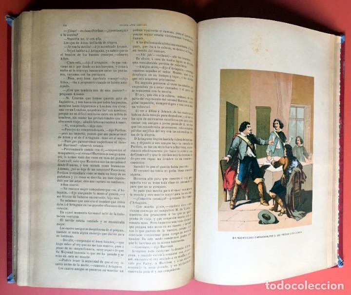 Libros antiguos: TRILOGÍA LOS TRES MOSQUETEROS - DUMAS - CROMOLITOGRAFÍAS - F. SEIX EDITOR - 3 VOL. EN 2 TOMOS - Foto 18 - 198638027