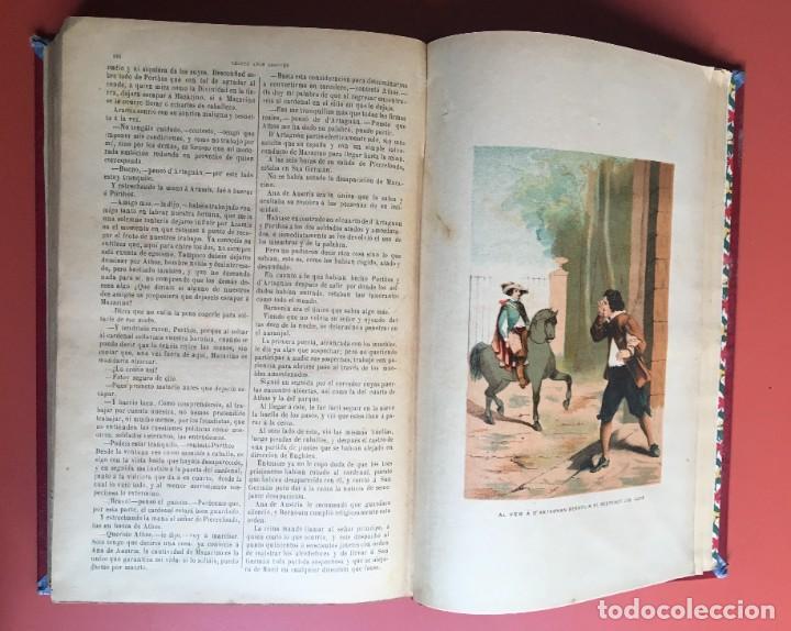Libros antiguos: TRILOGÍA LOS TRES MOSQUETEROS - DUMAS - CROMOLITOGRAFÍAS - F. SEIX EDITOR - 3 VOL. EN 2 TOMOS - Foto 19 - 198638027