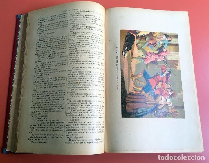 Libros antiguos: TRILOGÍA LOS TRES MOSQUETEROS - DUMAS - CROMOLITOGRAFÍAS - F. SEIX EDITOR - 3 VOL. EN 2 TOMOS - Foto 27 - 198638027