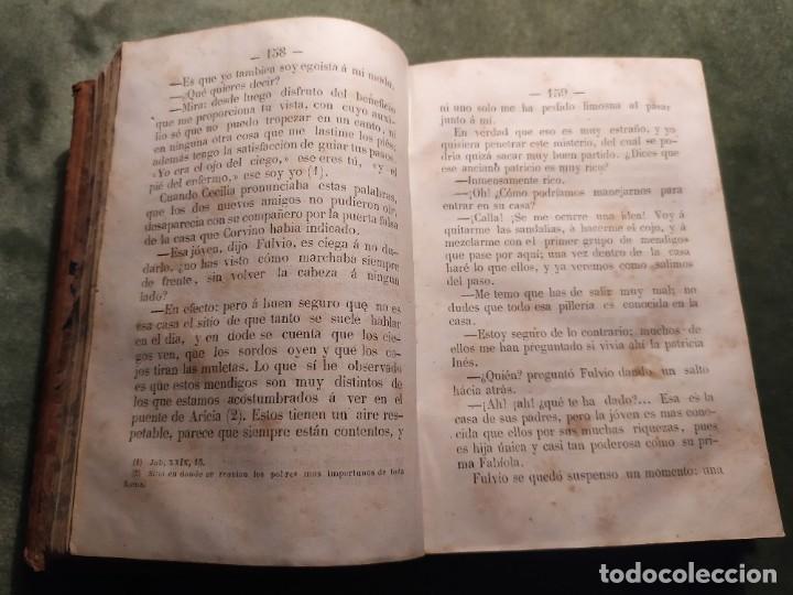 Libros antiguos: 1861. Fabiola o la iglesia de las catacumbas. Cardenal Wisseman. Completo. - Foto 5 - 198848272