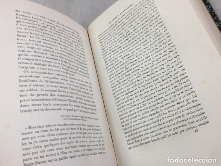 Libros antiguos: Camille Desmoulins, Lucile Desmoulins, Etude sur les Dantonistes, documents nouveaux. 1875 Claretie - Foto 4 - 199109287