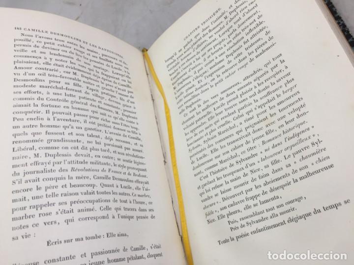 Libros antiguos: Camille Desmoulins, Lucile Desmoulins, Etude sur les Dantonistes, documents nouveaux. 1875 Claretie - Foto 7 - 199109287