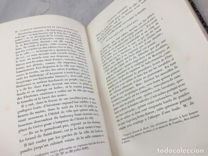 Libros antiguos: Camille Desmoulins, Lucile Desmoulins, Etude sur les Dantonistes, documents nouveaux. 1875 Claretie - Foto 8 - 199109287