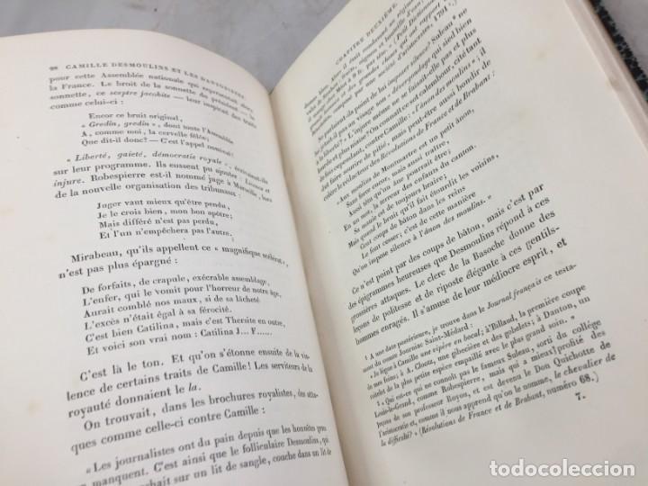 Libros antiguos: Camille Desmoulins, Lucile Desmoulins, Etude sur les Dantonistes, documents nouveaux. 1875 Claretie - Foto 9 - 199109287