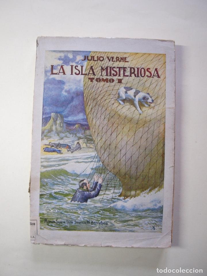 Libros antiguos: LA ISLA MISTERIOSA - TOMOS I Y II - COMPLETO - JULIO VERNE - EDITORIAL RAMÓN SOPENA - BARCELONA 1940 - Foto 2 - 199321097