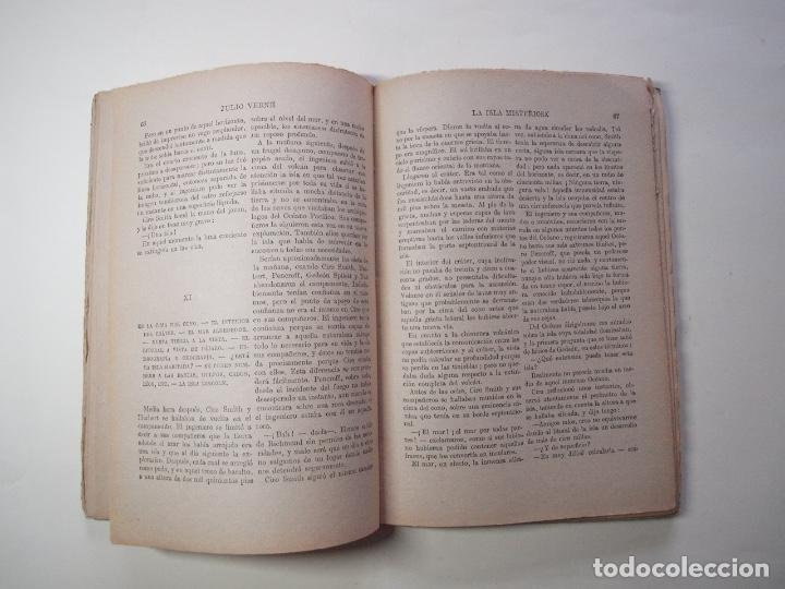 Libros antiguos: LA ISLA MISTERIOSA - TOMOS I Y II - COMPLETO - JULIO VERNE - EDITORIAL RAMÓN SOPENA - BARCELONA 1940 - Foto 4 - 199321097