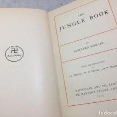 Libros antiguos: THE JUNGLE BOOK, 1915 MACMILLAN EDITION RUDYARD KIPLING, EDICIÓN EN INGLÉS. ILUSTRADA.. Lote 199456002