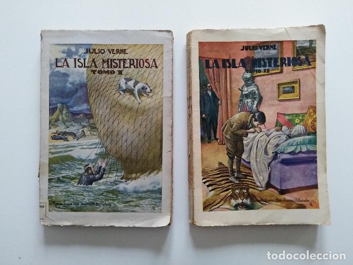 LA ISLA MISTERIOSA - TOMOS I Y II - COMPLETO - JULIO VERNE - EDITORIAL RAMÓN SOPENA - BARCELONA 1940 (Libros antiguos (hasta 1936), raros y curiosos - Literatura - Narrativa - Clásicos)