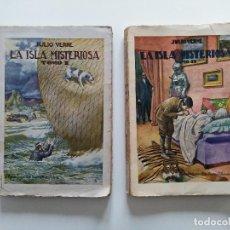 Libros antiguos: LA ISLA MISTERIOSA - TOMOS I Y II - COMPLETO - JULIO VERNE - EDITORIAL RAMÓN SOPENA - BARCELONA 1940. Lote 199321097