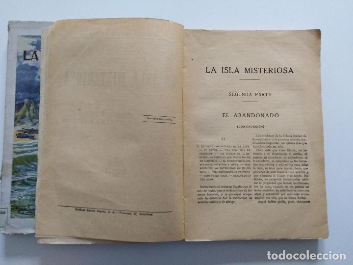 Libros antiguos: LA ISLA MISTERIOSA - TOMOS I Y II - COMPLETO - JULIO VERNE - EDITORIAL RAMÓN SOPENA - BARCELONA 1940 - Foto 9 - 199321097