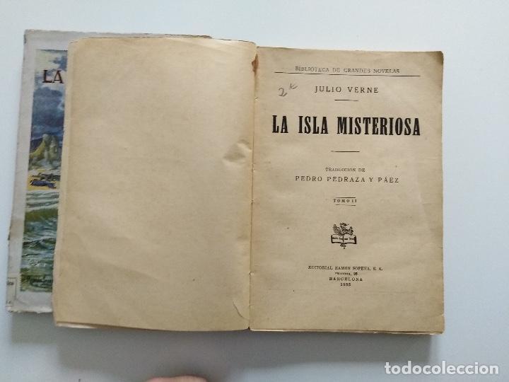 Libros antiguos: LA ISLA MISTERIOSA - TOMOS I Y II - COMPLETO - JULIO VERNE - EDITORIAL RAMÓN SOPENA - BARCELONA 1940 - Foto 10 - 199321097