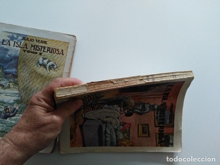 Libros antiguos: LA ISLA MISTERIOSA - TOMOS I Y II - COMPLETO - JULIO VERNE - EDITORIAL RAMÓN SOPENA - BARCELONA 1940 - Foto 12 - 199321097