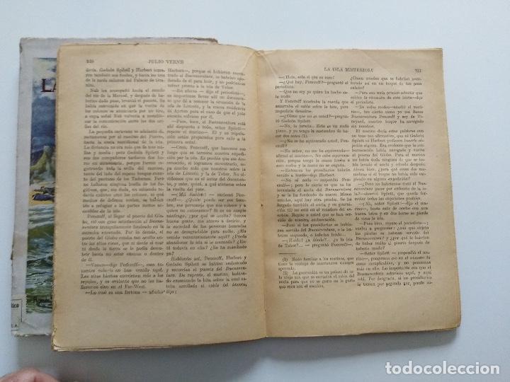 Libros antiguos: LA ISLA MISTERIOSA - TOMOS I Y II - COMPLETO - JULIO VERNE - EDITORIAL RAMÓN SOPENA - BARCELONA 1940 - Foto 13 - 199321097